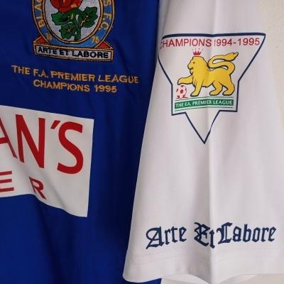"Official Blackburn Rovers Home Shirt 1995-1996 (L) ""Very Good"""