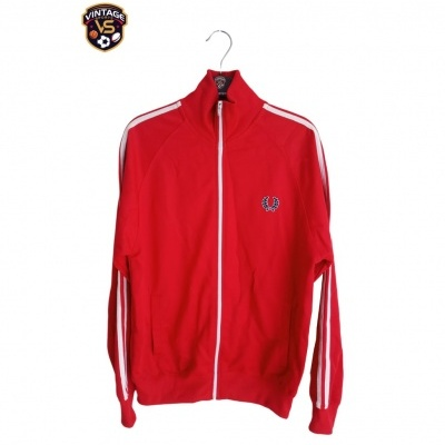 """Fred Perry Track Top Jacket Red White (S) """"Very Good"""""""
