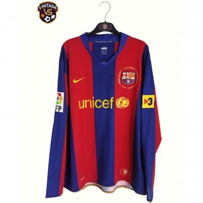 "FC Barcelona Home Shirt 2007-2008 #9 Eto'o (XL) ""Very Good"""