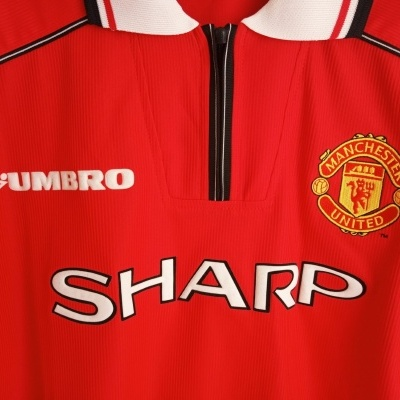 """Manchester United Home Shirt 1998-2000 (L) """"Very Good"""""""