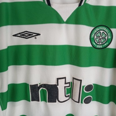 "Celtic Glasgow FC Home Shirt 2001-2002 (L) ""Very Good"""