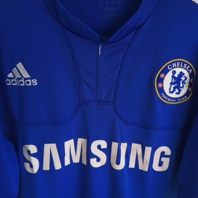 "Chelsea FC Home Shirt 2009-2010 #11 Drogba (M) ""Good"""