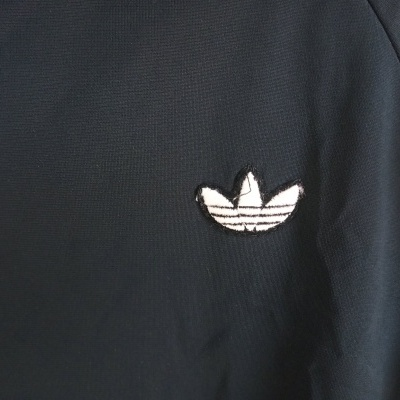 "Vintage Track Top Jacket Adidas Black White (S-M) ""Very Good"""