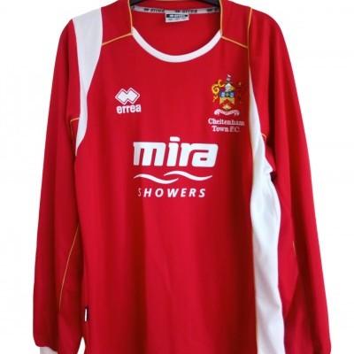 "Cheltenham Town FC Long Sleeve Home Shirt 2008-2010 (M) ""Perfect"""