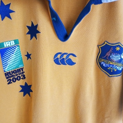 "Australia Wallabies Rugby Home Shirt 2003 (L) ""Good"""