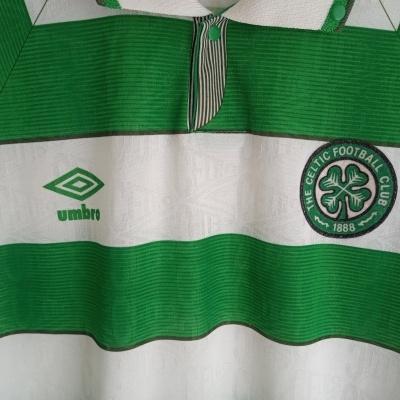 "Celtic FC Home Shirt 1992-1993 (L) ""Very Good"""