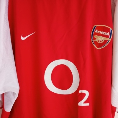 "Arsenal FC Home Shirt 2002-2004 #14 Henry (XXL) ""Very Good"""