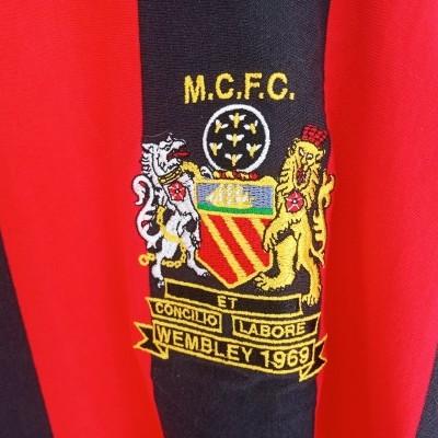 "Retro Manchester City FA Cup Final Shirt 1969 (L) ""Very Good"""