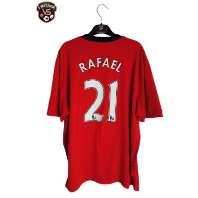 "Manchester United Home Shirt 2009-2010 #21 Rafael (XXL) ""Very Good"""