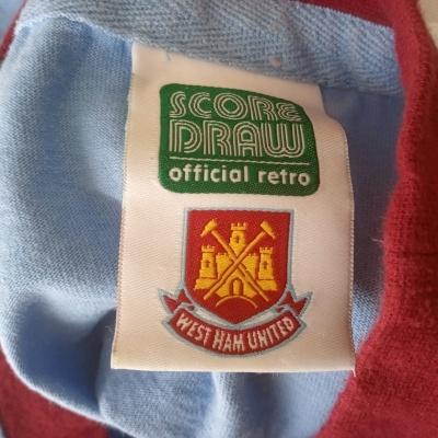 "Official Retro West Ham United Away Shirt 1966 #6 (L) ""Good"""
