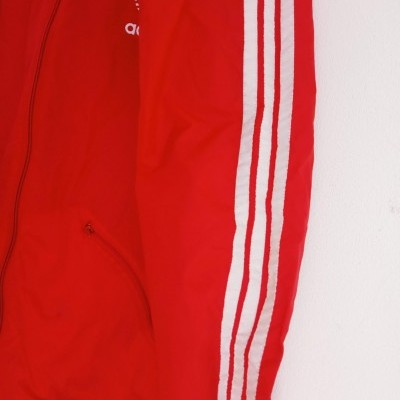 "Vintage Adidas Windbreaker Rain Jacket Red White (S) ""Very Good"""