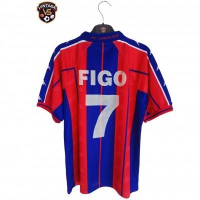 """FC Barcelona Home Shirt 1997-1998 #7 Figo (S) """"Good"""""""