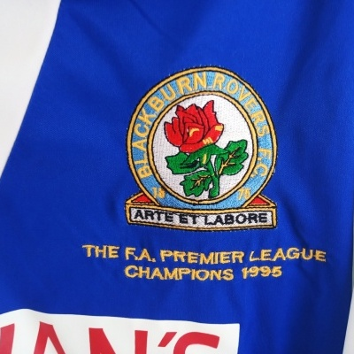 "Official Blackburn Rovers Home Shirt 1995-1996 (L) ""Very Good"""
