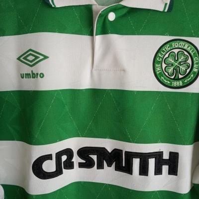 "Celtic FC Home Shirt 1989-1991 (L) ""Good"""