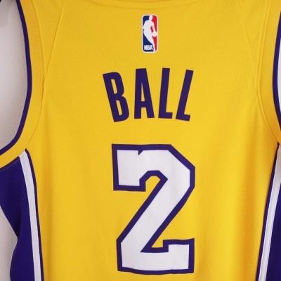 "LA Los Angeles Lakers NBA Swingman Jersey #2 Lonzo Ball (40) ""Perfect"""