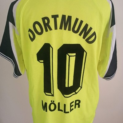 "BVB Borussia Dortmund Home Shirt 1995-1996 #10 Möller (XL) ""Very Good"""