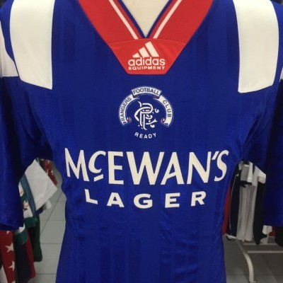 Glasgow Rangers FC Home Shirt 1992-93 (XL)