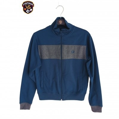 "Fred Perry Jacket Track Top Blue Grey (M Youths) ""Very Good"""