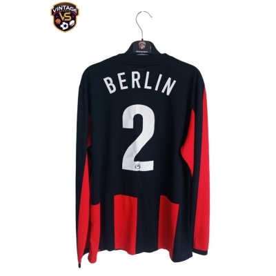 "Hertha BSC Berlin Player Issue Away Shirt L/S 2009 #2 (L) ""Very Good"""