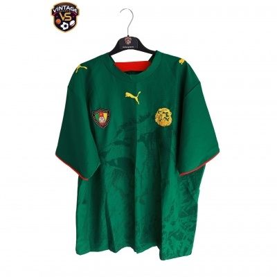 """Cameroon Home Shirt 2006-2008 (XL) """"Perfect"""""""