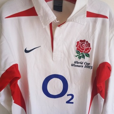 """England Rugby Shirt 2003 World Champions (L) """"Very Good"""""""