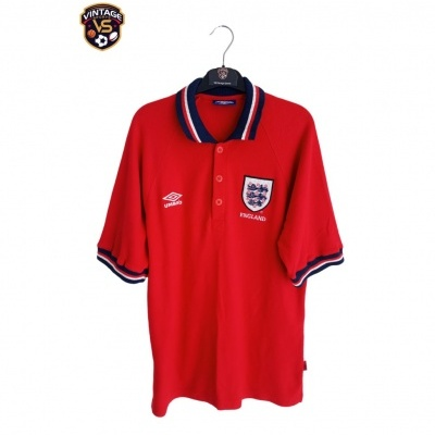 "England 1990s Polo Shirt Cotton (M) ""Good"""