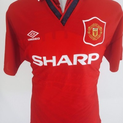 """Manchester United Home Shirt 1994-1996 (L) """"Good Condition"""""""