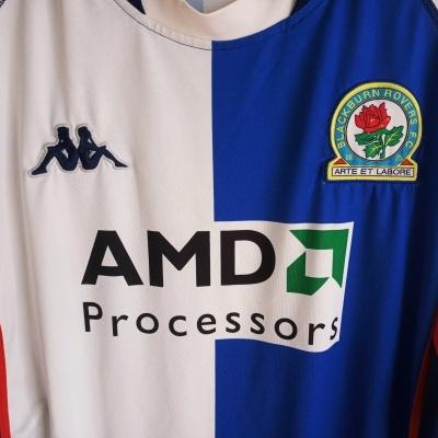 """Blackburn Rovers Home Shirt 2002-2003 (XXL) """"Very Good"""""""