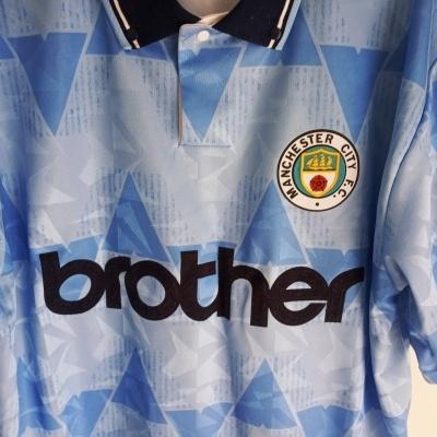 "Retro Manchester City Home Shirt 1989-1991 (L) ""Perfect"""