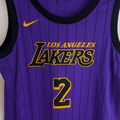 "LA Los Angeles Lakers NBA Swingman Jersey #2 Ball (40) ""Perfect"""