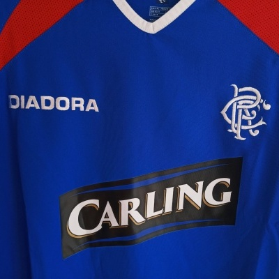 NEW Glasgow Rangers FC Home Shirt 2003-2005 (XL)