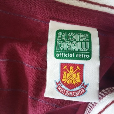 """Official Retro West Ham United Home Shirt 1985-1987 (XXL) """"Very Good"""""""