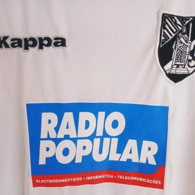 "Matchworn Vitoria Guimarães Uefa Shirt 2005 #20 Rogerio Matias (L) ""Very Good"""