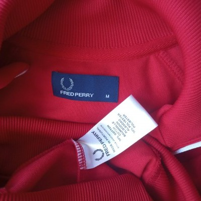 "Fred Perry Jacket Track Top Dark Red White (M) ""Very Good"""