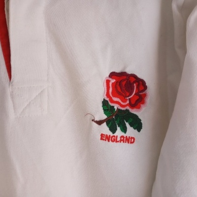 """England Rugby Long Sleeve Home Shirt 1991 (L) """"Very Good"""""""