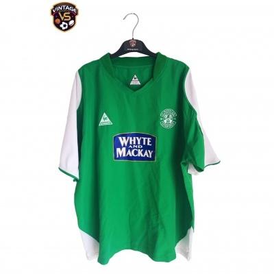 """Hibernian Edinburgh Home Shirt 2004-2005 (XL) """"Very Good"""""""