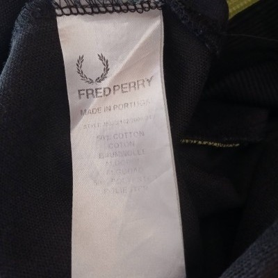 "Fred Perry Jacket Track Top Black Yellow (M) ""Very Good"""