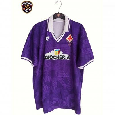"AC Fiorentina Home Shirt 1991-1992 (L) ""Very Good"""