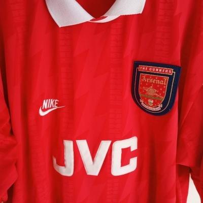 "Arsenal FC Home Shirt 1994-1996 (XXL) ""Very Good"""