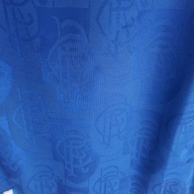 "Glasgow Rangers FC Home Shirt 1996-1997 (L) ""Very Good"""