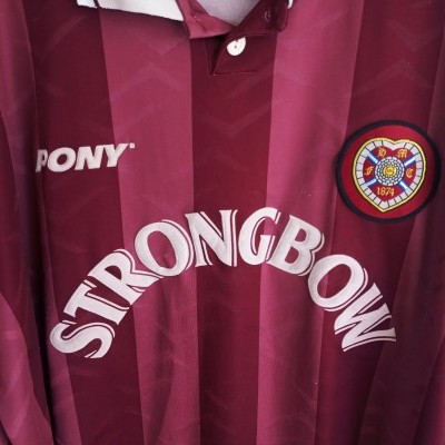 "Heart of Midlothian Hearts FC Home Shirt 1995/1997 (XL) ""Average"""