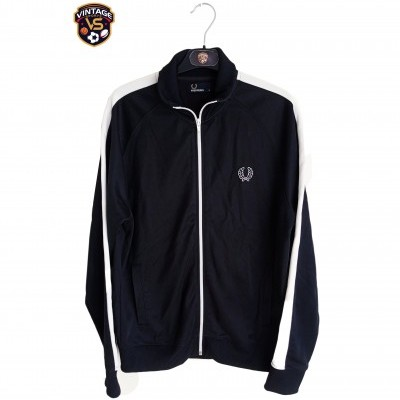 "Fred Perry Track Top Jacket Black White (M) ""Very Good"""