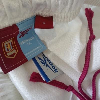 "Aston Villa FC Home Shorts 1998-1999 (S) ""Very Good"""