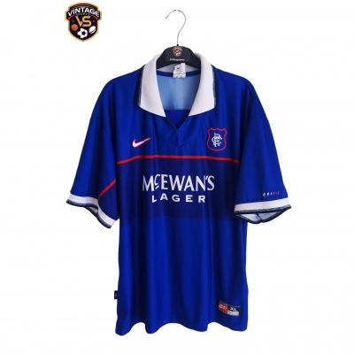 "Glasgow Rangers FC Home Shirt 1997-1999 (XL) ""Very Good"""