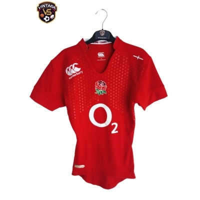 """England Rugby Away Shirt 2014-2015 Player Issue (S) """"Perfect"""""""