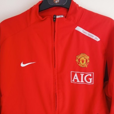 "Manchester United Track Top Jacket 2007-2008 (XL Youths) ""Very Good"""