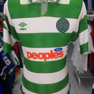 Celtic Glasgow FC Home Shirt 1991-92 (L)