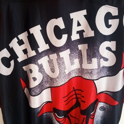 "Vintage Chicago Bulls NBA Shirt Nutmeg (L) ""Good"""