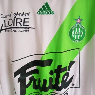 """ASSE Saint Etienne Away Shirt 2009-2010 (L) """"Very Good"""""""