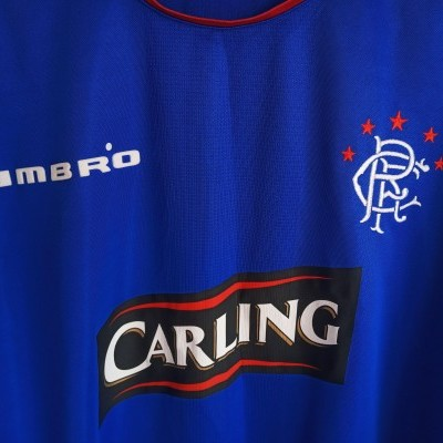 "Glasgow Rangers FC L/S Home Shirt 2005-2006 (XXL) ""Very Good"""